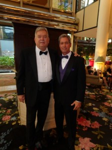 Rockin the Tuxes at the Universal Hilton before the Movie Guide Awards
