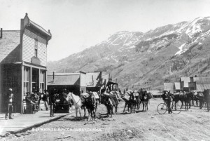 Dolor looking town-Ironton-Main-St-1880-1920
